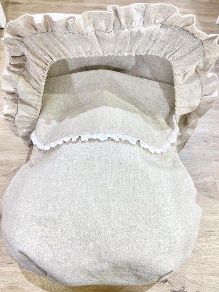 Funda grupo 0 + capota reductor y Almohadillas en lino