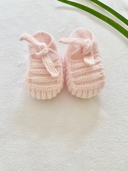 Patuco Tricot rosa bebé