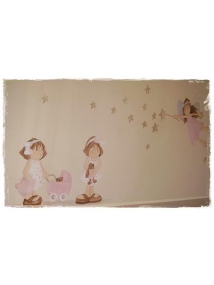 Mural Angel Estrellas